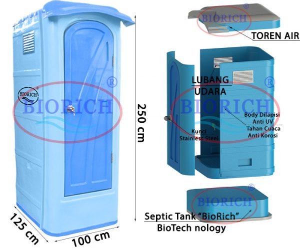 part tipe B 600x503 Toilet Portable BioRich Tipe Premium B