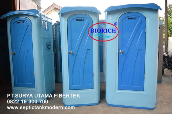 toilet portable wc portabel fiber fibreglass frp murah biru agen supplier jual dagang beli indonesia 600x400 Toilet Portable BioRich Tipe Luxury A