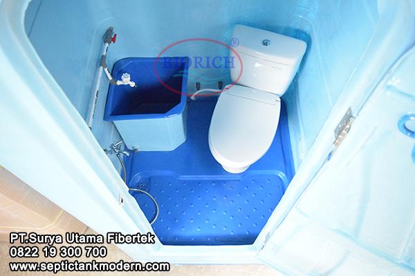toilet wc portabel portable kamar mandi proyek murah knockdown Toilet Portable BioRich Tipe Luxury A