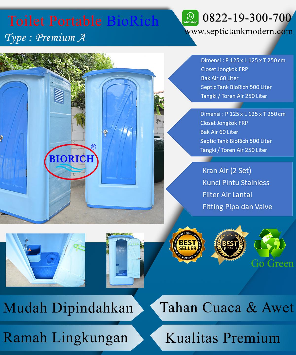 toilet portable wc flexible closet duduk portabel kamar mandi murah daftar harga terbaik berkualitas prem a Toilet Portable BioRich Tipe Premium A